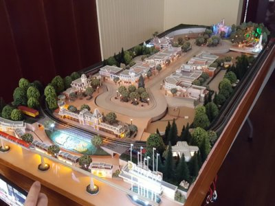 Here is a recent project representing the main entrance to Disneyland in Z scale.