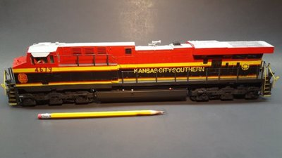 Here is a 2-rail O scale Mike's Train House ES44AC GEVO.  All custom paint and printed decals and dry transfers.  It is a big engine!