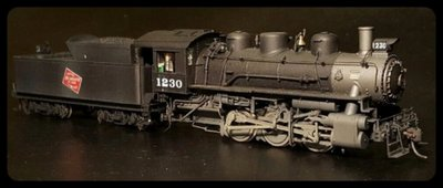 Here is a recent project for Gordy.  It's an HO Proto 2000 Milwaukee 0-6-0 switcher.  Painted with Model Master paints and decals by DM Custom Decals.  Weathered with a variety of tinted Dullcote.