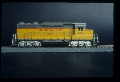 This was the first locomotive I ever painted.  A Bachmann GP30.  I painted this in 1982.